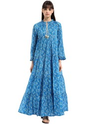 Yvonne S Long Sleeve Cotton Voile Maxi Dress