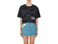 Marc Jacobs Women's Distressed Jersey Crop T Shirt No Color
