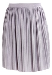 Jdynice Pleated Skirt Light Grey Melange Mottled Light Grey