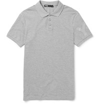 Y 3 Cotton Pique Polo Shirt Gray