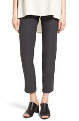 Eileen Fisher Women's Stretch Crepe Slim Ankle Pants Graphite