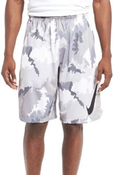 Nike Men's 'Hyperspeed Topo Buzz' Camo Print Dri Fit Athletic Shorts Pure Platinum Black