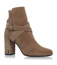 Saint Laurent Babies Pin Jodhpur Ankle Boots 90 Female Camel