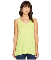 Mod O Doc Heather Jersey Banded Tank Top Lime Women's Sleeveless Green