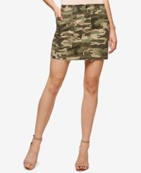 Sanctuary Camo Print Cotton Mini Skirt Safari Camo