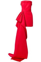 Reem Acra Woman Silk Faille Mini Dress Crimson