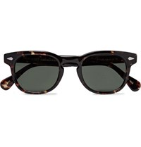 Moscot Gelt Square Frame Tortoiseshell Acetate Sunglasses Brown