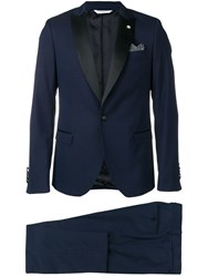 Manuel Ritz Two Piece Suit Blue