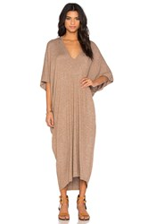 Riller And Fount Luca Caftan Maxi Dress Brown
