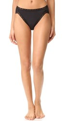Natori Bliss Cotton French Cut Bikini Briefs Black