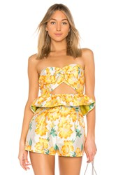 Endless Rose Sweetheart Top Yellow