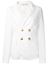 Marni Double Breasted Jacket White
