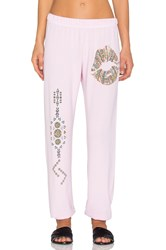 Lauren Moshi Pattern Lip With Tribal Leg Pant Pink
