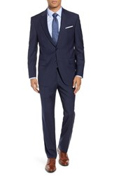 Peter Millar Flynn Classic Fit Check Wool Suit Navy