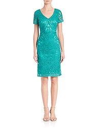 Sue Wong Soutache Sheath Dress Jade