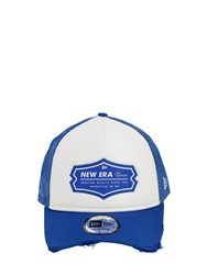 New Era Ne Patch Trucker Hat Blue