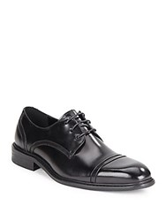 Kenneth Cole Be Leave It Leather Lace Up Derby Shoes Black