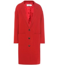 Closed Aberdeen Virgin Wool And Cashmere Blend Coat Red