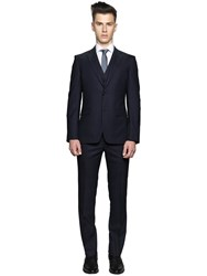 Z Zegna Super 120S Wool Micro Dot Fil A Fil Suit
