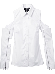 Hood By Air Cut Out Shoulder Shirt White
