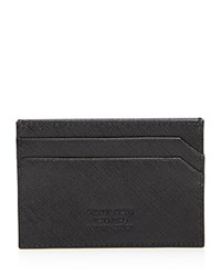 The Men's Store At Bloomingdale's Saffiano Card Case Black