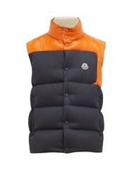 Moncler Cadenet Contrast Quilted Down Gilet Navy