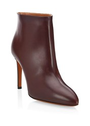 Azzedine Alaia Leather High Heel Ankle Booties Cassis