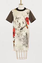 Moncler Silk Dress Ivory Multi
