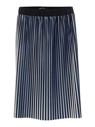 Pennyblack Leather Effect Jersey Skirt Blue