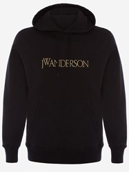 J.W.Anderson Jw Anderson Embroidered Logo Hoodie Black