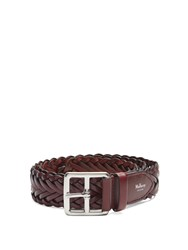 Mulberry Woven Leather Belt Brown