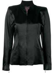 John Galliano Vintage Standing Collar Jacket Black