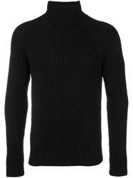 Joseph Ribbed Roll Neck Jumper Black
