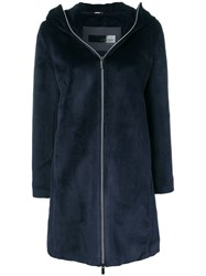 Rrd Hooded Zipped Coat Blue