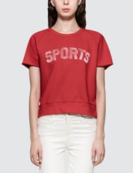 Mother Raw Sleeve Square S S T Shirt