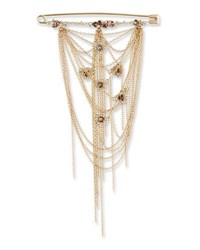 Alexis Bittar Fringe Safety Pin Brooch