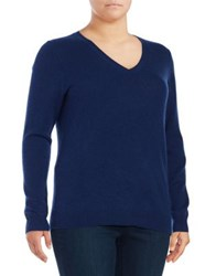 Lord And Taylor Plus V Neck Cashmere Sweater Garnet