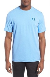 Under Armour Men's 'Sportstyle' Charged Cotton Loose Fit Logo T Shirt Grey Heather Artillery Green
