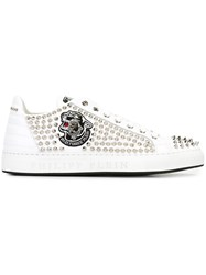 Philipp Plein 'Captured' Low Sneakers White