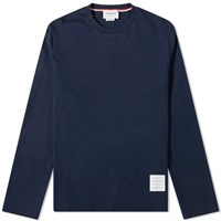 Thom Browne Classic Long Sleeved Tee Blue