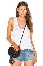 Black Orchid Distressed Tank White