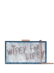 Sophia Webster Wifey For Lifey Clutch Bag Blue