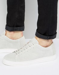 Selected Homme David Suede Trainers White