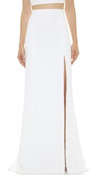 J. Mendel Floor Length Mermaid Skirt Ivoire