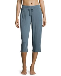 Skin Drawstring Waist Cropped Pants Mineral Blue