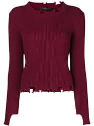 Federica Tosi Chewed Sweater Red