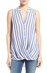 Women's Lush Stripe Surplice Top