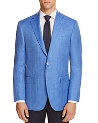 Jack Victor Loro Piana Herringbone Classic Fit Sport Coat 100 Exclusive Blue