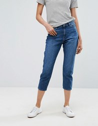 Esprit Cropped Mom Jeans Blue