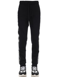 Versace Cotton Jersey Track Pants W Studs Black
